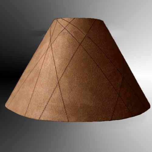 "10"" Coolie Lampshade Latte/Choc Faux Suede"