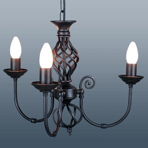 Black Candle Ceiling Lights : Classic arm ceiling fitting the lighting superstore