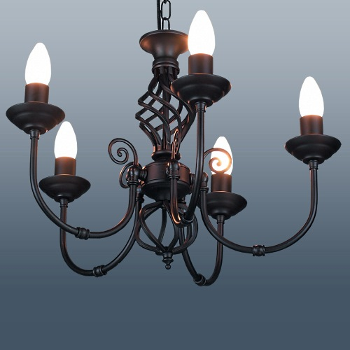 Classic 5 Arm Black Ceiling Light Cla5b