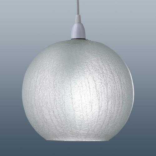 Ceiling Lights Glass Shades : Crackle effect glass shade ball shaped crglpd the lighting superstore