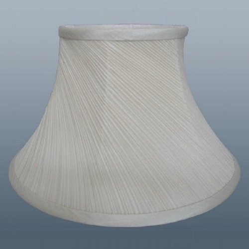 "10"" CREAM TWISTED PLEAT LAMPSHADE"