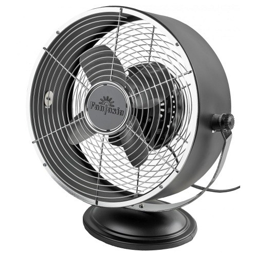 Matt Black Retro Desk Fan 119012