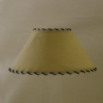 "10"" Biche Thonged Coolie Lampshade, Blue Cord Clearance"