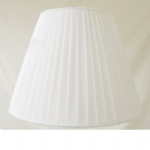 "14""Bowed Empire KEP White Shangtung Lampshade SS1125"