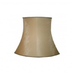 "18"" Square Oval Beige Dupion Lined lampshade SS1151"