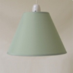 "9""CT Mid Green PVC Coolie Lampshade"