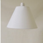 "9"" CT White PVC Coolie"