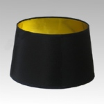 "12"" Drum Black Brillor Lampshade"