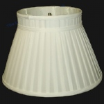 "12"" Drum Cream Pongee Self Trim Lampshade SS1059"