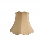 "16"" T&B Scollop Beige Dupion Lampshade SS1245"