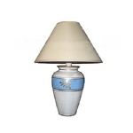 Ceramic Table Complete Lamp Ivory 5743