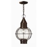 Single Globe Outdoor Lantern HK/CAPECOD CHAIN