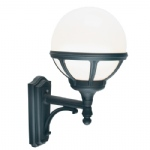 Bologna Globe Outdoor Wall Light B1 Black O