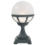 Black Bologna Globe Pedestal Light B3 Black O