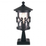 Hereford Outdoor Pedestal Light BL12 Black
