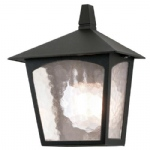 York Outdoor Lantern Wall Light BL15 Black