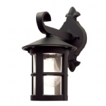 Hereford Outdoor Wall Light BL21 Black E27