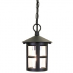 Hereford Hanging Chain Lantern BL21B Black