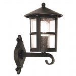 Hereford Black Outdoor Wall Lantern BL22G Black