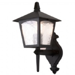 York Outdoor Lantern Wall Light BL5 Black