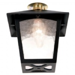 York Porch Ceiling Lantern BL6C Black