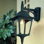 Chapel Black Outdoor Wall Light CP2 Black