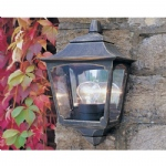 Black Gold Chapel Outdoor Wall Light CP7 2 BLK/Gold