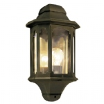 CP7 Black/Gold Chapel Half Wall Lantern