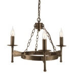 Cromwell Multi Arm 3 Light pendant Fitting CW3 OLD BRZ