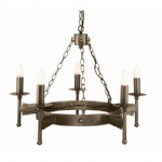 Cromwell 5 Arm Ceiling Light CW5 OLD BRZ