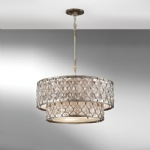 Lucia Two Tier 6 Light Pendant FE/LUCIA/P/E 2TR