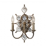 Leila Crystal Double Wall Light FE/LEILA2