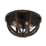 Allier Flush Ceiling Light FE/ALLIER/F WW