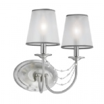 Aveline Brushed Steel Double Wall Light FE/AVELINE2