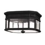 Cotswold Lane Flush Porch Light FE/COTSLN/F BK