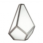 FE/DIAMOND1 Diamond Polished Nickel Wall Light