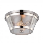 FE/HARROW/F Harrow Flush Nickel Ceiling Light