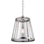 FE/HARROWP/M Harrow Nickel Pendant Light