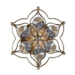 Leila Burnished Silver Wall Light FE/LEILA1