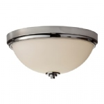 FE/MALIBU/F BATH Malibu Nickel Flush Ceiling Light