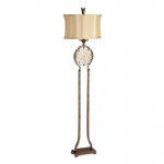 FE/MARCELLA/FL Bronze/Gold Coloured Floor Lamp