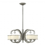Monaco Satin Nickel 5 Arm Ceiling Light HK/MONACO5