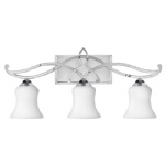 HK/BROOKE3 Brooke Chrome Bathroom Triple Wall Light