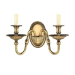 Cambridge Solid Brass Double Wall Light HK/CAMBRIDGE2