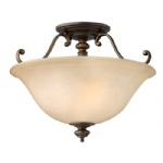 Dunhill Semi-Flush Ceiling Two Light HK/DUNHILL/SF