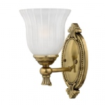 Francoise Brass Wall Light HK/FRANCOI1 BATH
