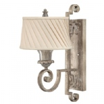 Kingsley Single Silver Wall Light HK/KINGSLEY1