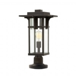 HK/MANHATTAN3/M Manhattan Bronze Post Light
