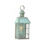 Verdigris Outdoor Flush Wall Light HYDE PARK Verdi