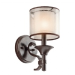 MB Lacey Bronze Wall Light KL/LACEY1